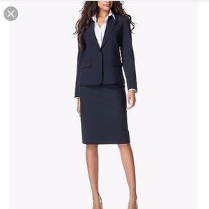 Theory navy suit, blazer & skirt